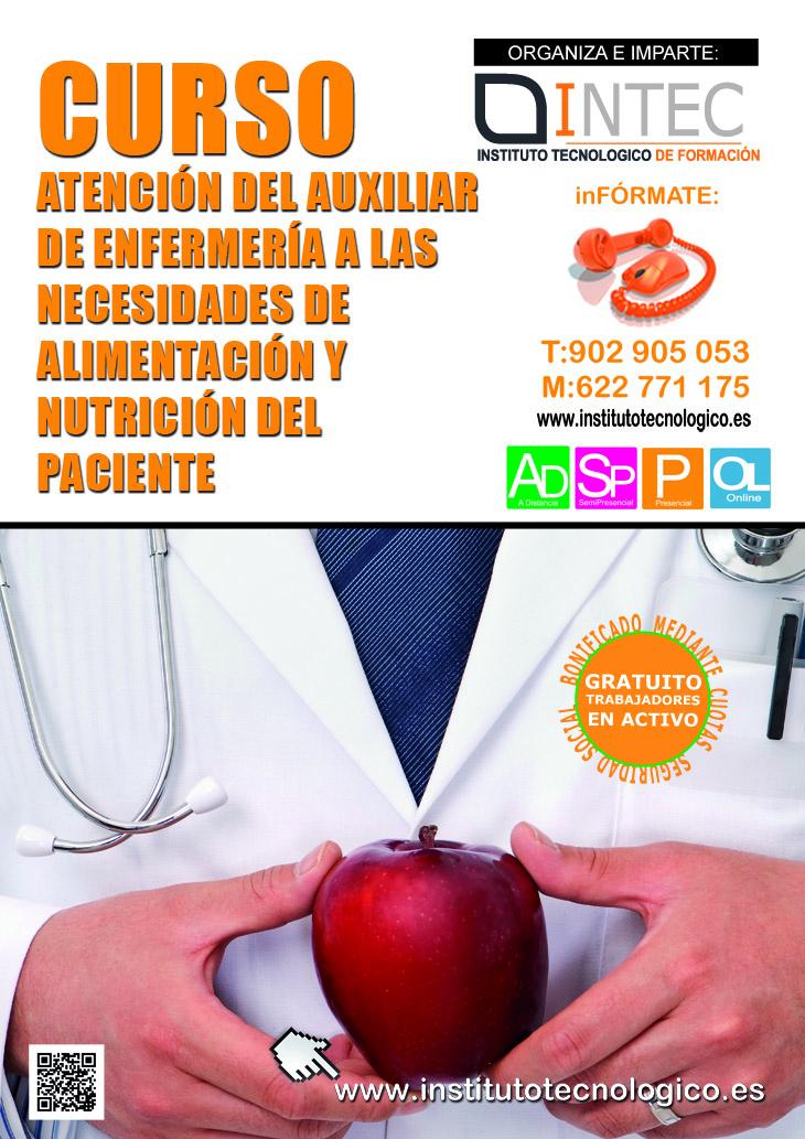 ATENCIÓN DEL AUXILIAR DE ENFERMERÍA A LAS NECESIDADES DE ALIMENTACIÓN Y NUTRICIÓN DEL PACIENTE