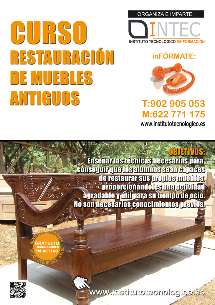 Intec restauraci n de muebles antiguos for Videos de restauracion de muebles