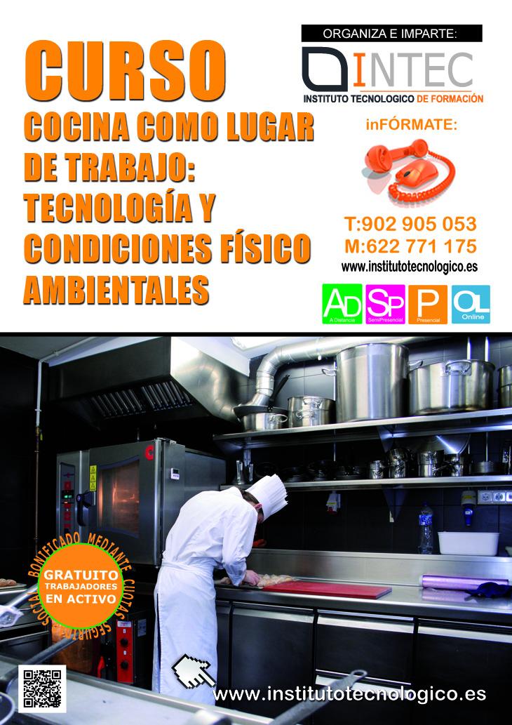 Intec cocina como lugar de trabajo tecnolog a y condiciones f sico ambientales - Cursos de cocina sabadell ...